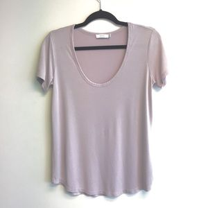 ARITZIA Talula Scoop Neck Short Sleeve T Lilac S